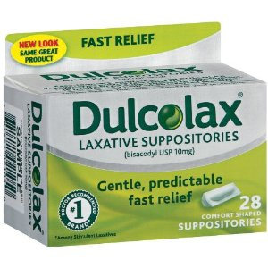 Dulcolax : laxatif en suppositoire.